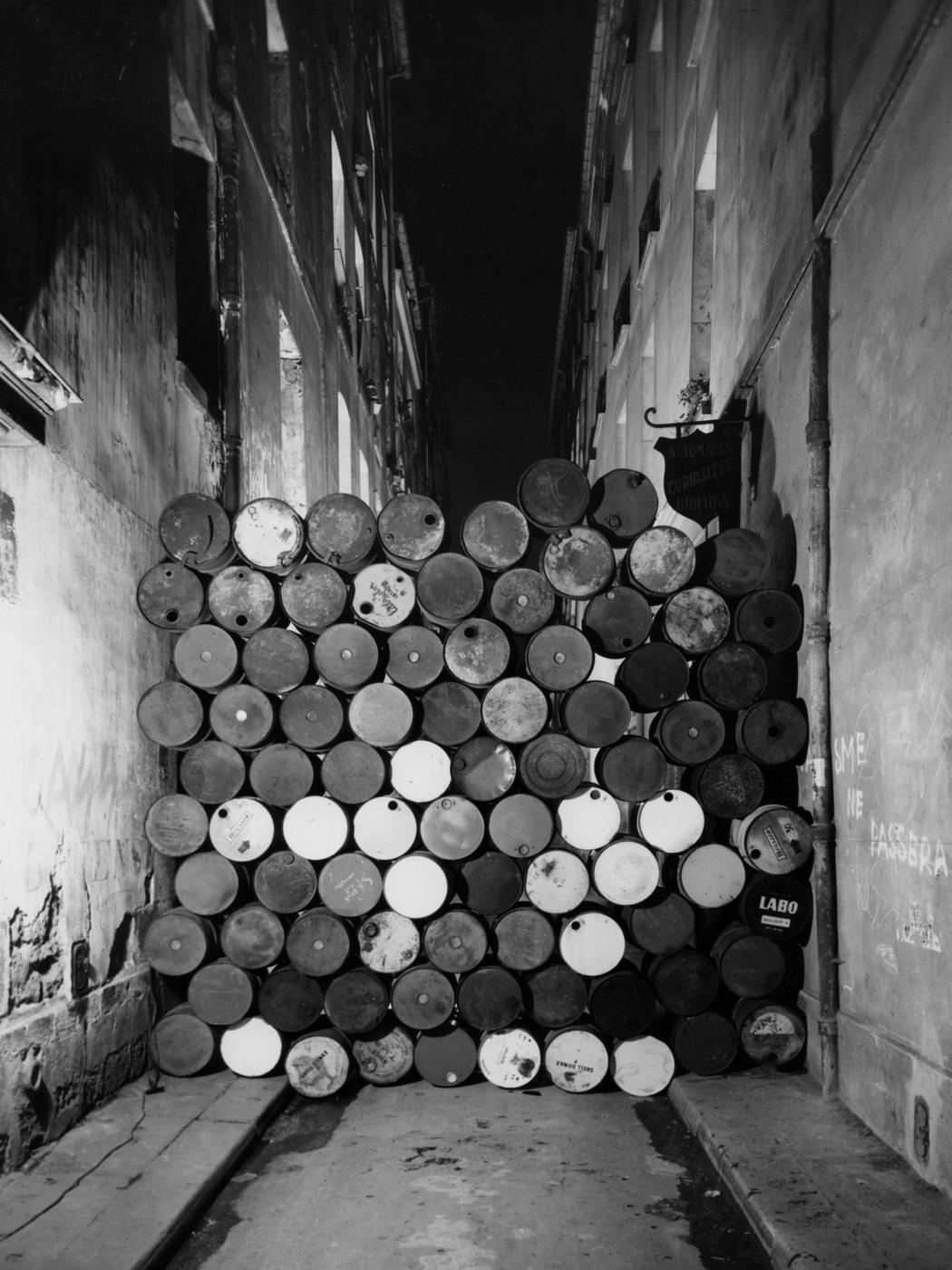 """Wall of Oil Barrels - The Iron Curtain"""