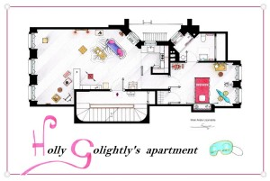 breakfast at tiffany's apartment floorplan © Iñaki Aliste Lizarralde