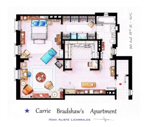 carrie bradshaw apartment from sex and the city © Iñaki Aliste Lizarralde