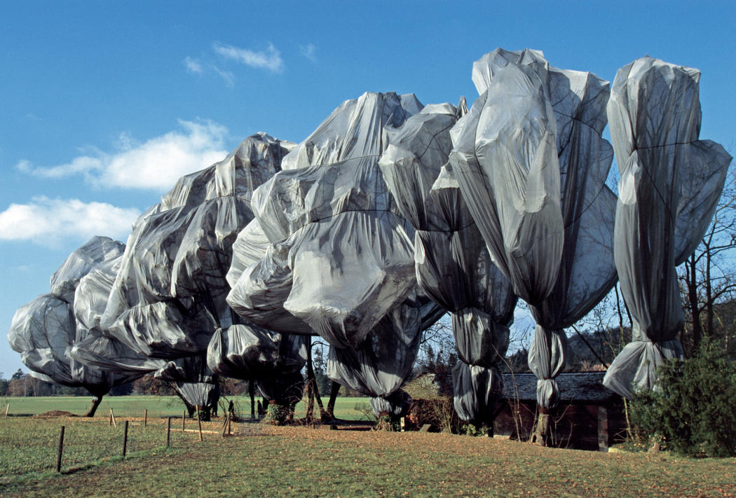 wrapped trees christo jeanne claude