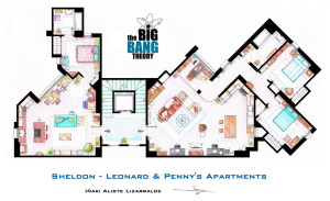 Penny & Sheldon-Leonard apartments from The big bang theory© Iñaki Aliste Lizarralde