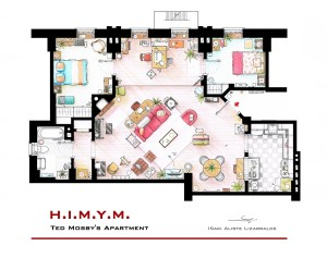 Ted Mosby  apartment from How I Met Your Mother © Iñaki Aliste Lizarralde