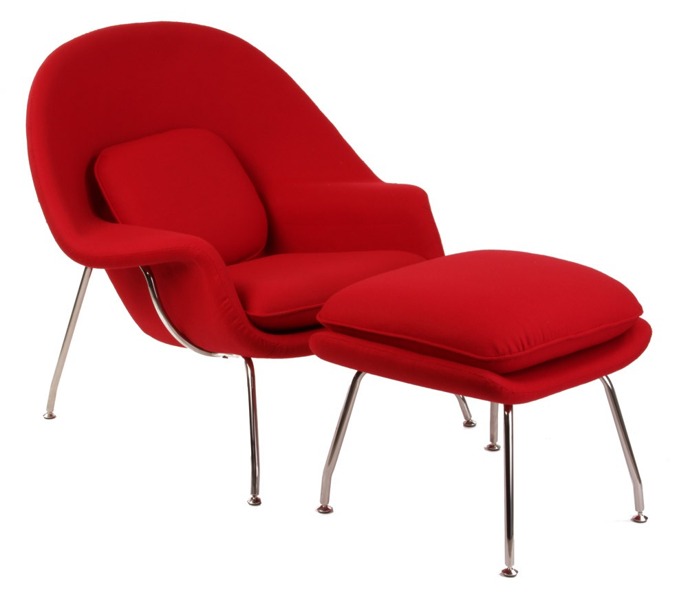 Eero Saarinen Womb Chair and Footstool