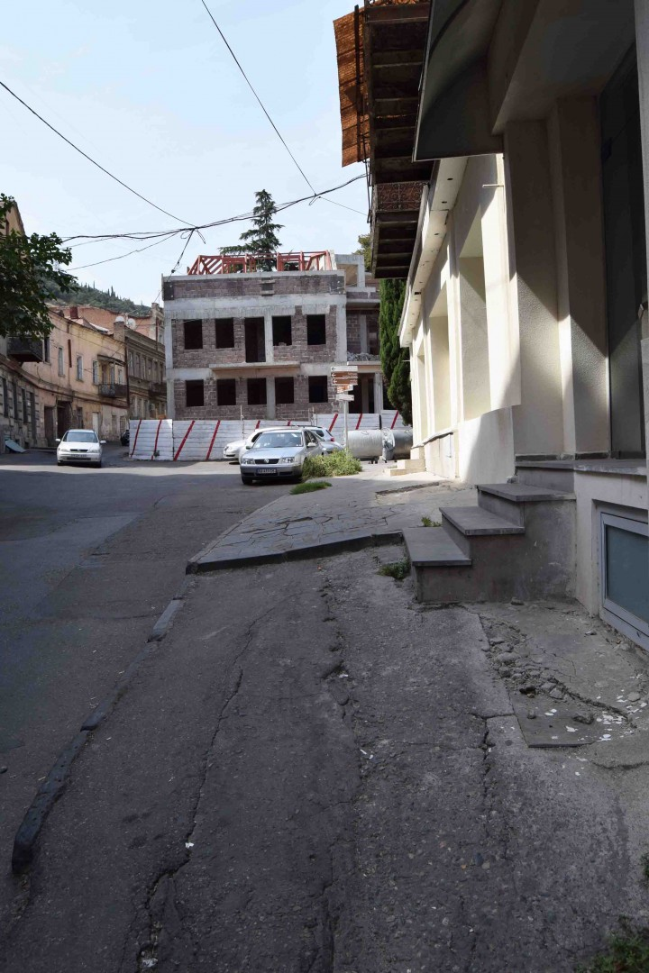 Old Tbilisi and damaged pavement again