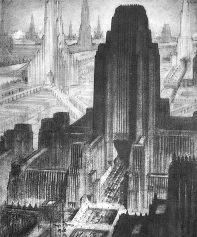 Source: livejournal.com  Hugh Feris Metropolis of tomorrow