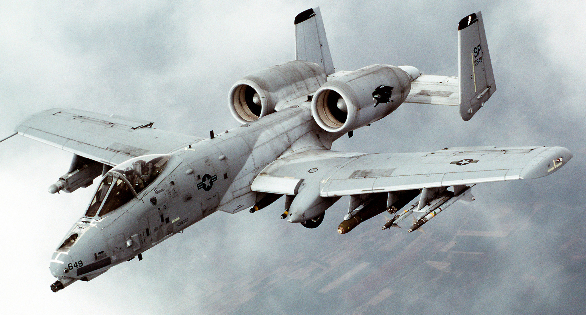 Fairchild A-10 Thunderbolt II Source:  commons.wikimedia.org
