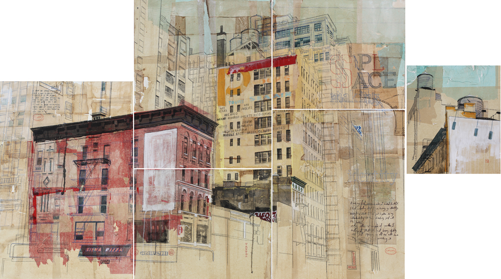 Urban Identities 23 2013 Mixed Media And Rice Paper On