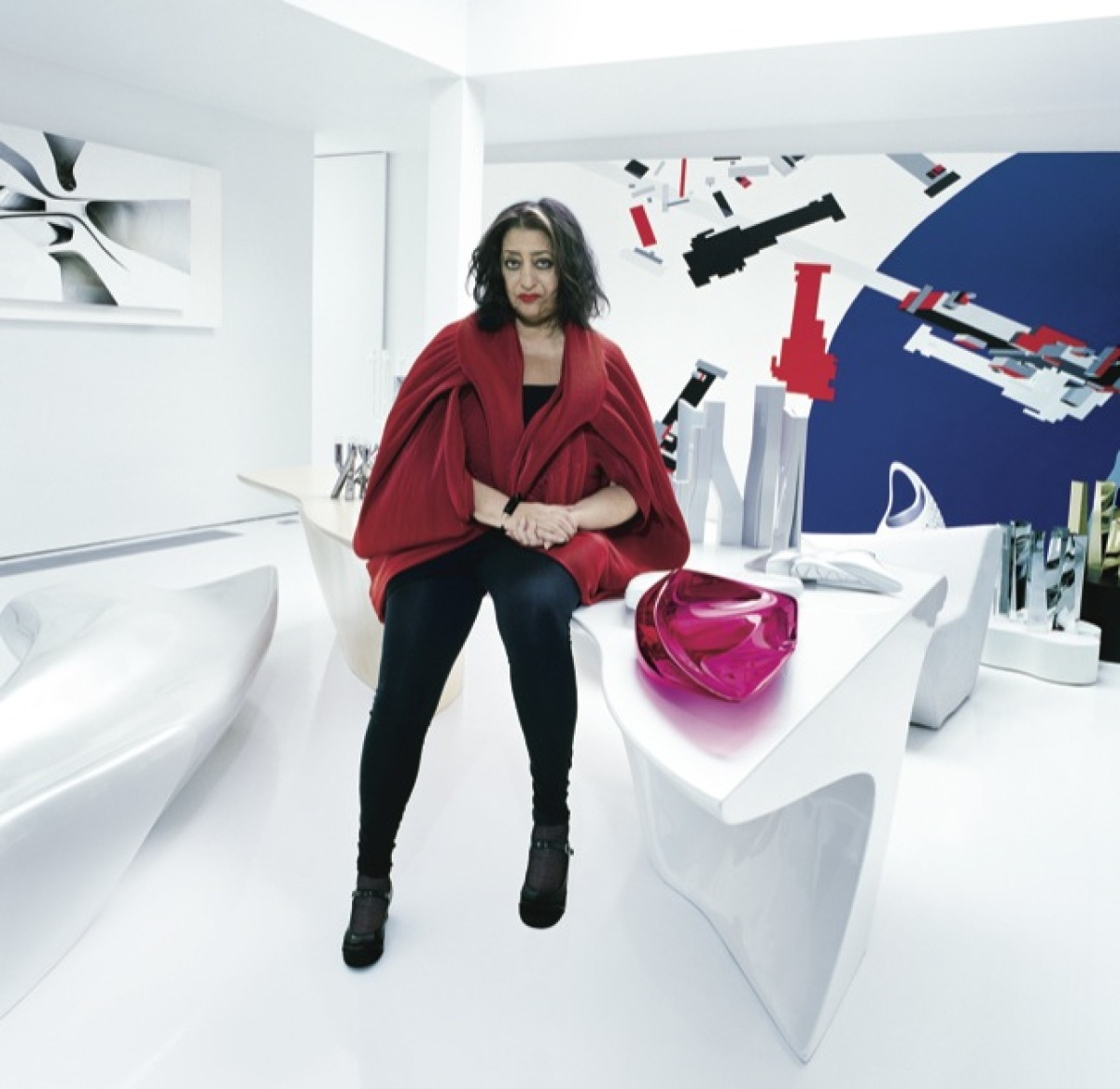 Zaha Hadid In her appartment in Clerkenwell. London