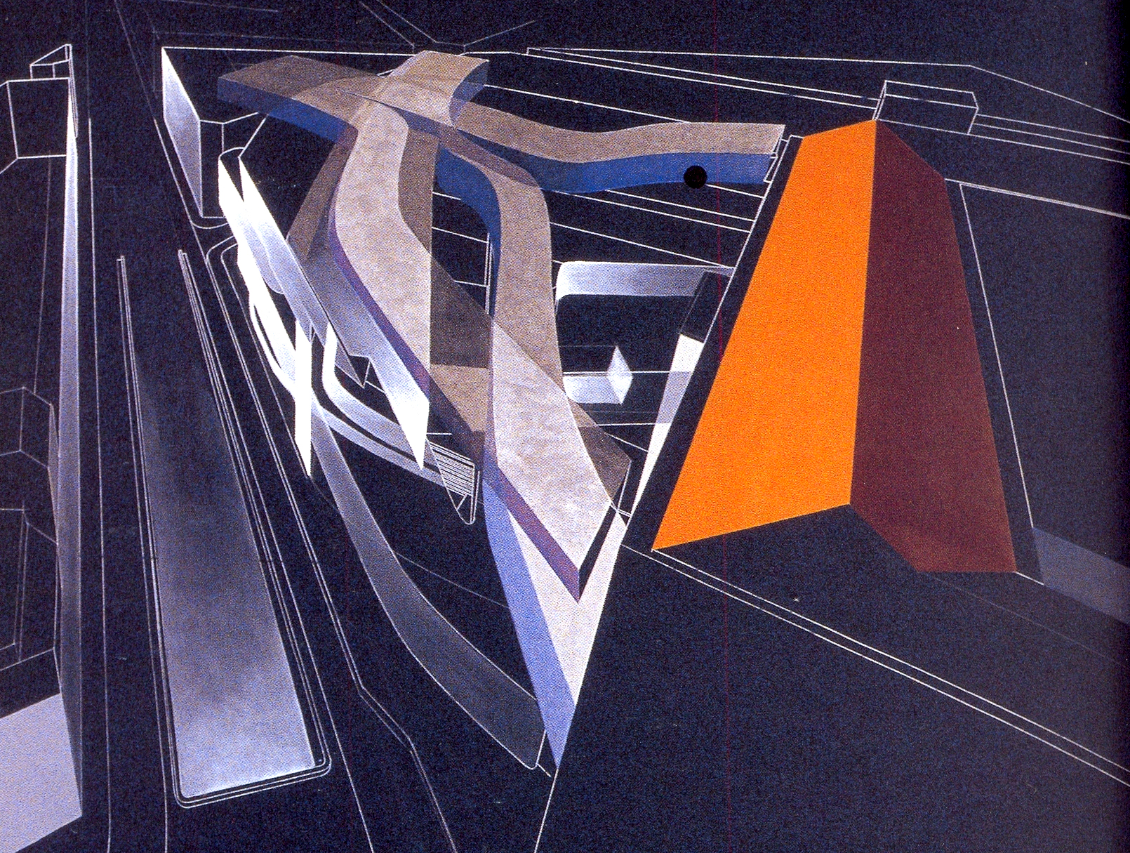 Reina Sofia Museum, Aerial perspective and layering, Zaha Hadid, 1999