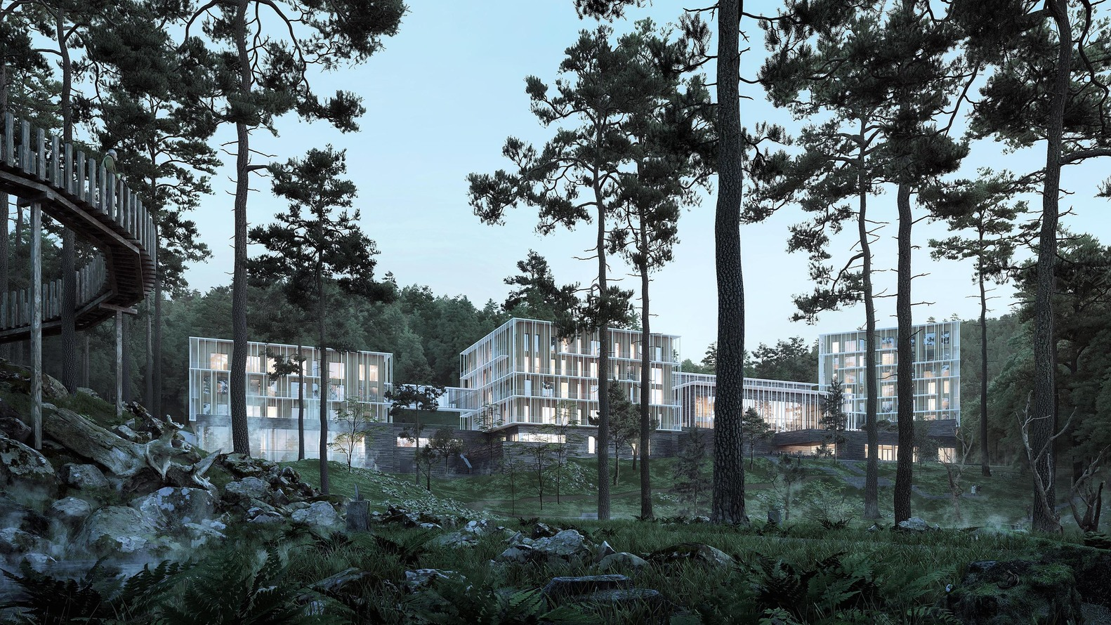 Hotel in Abastumani by Henning Larsen. Photo Courtesy: Henning Larsen Architects