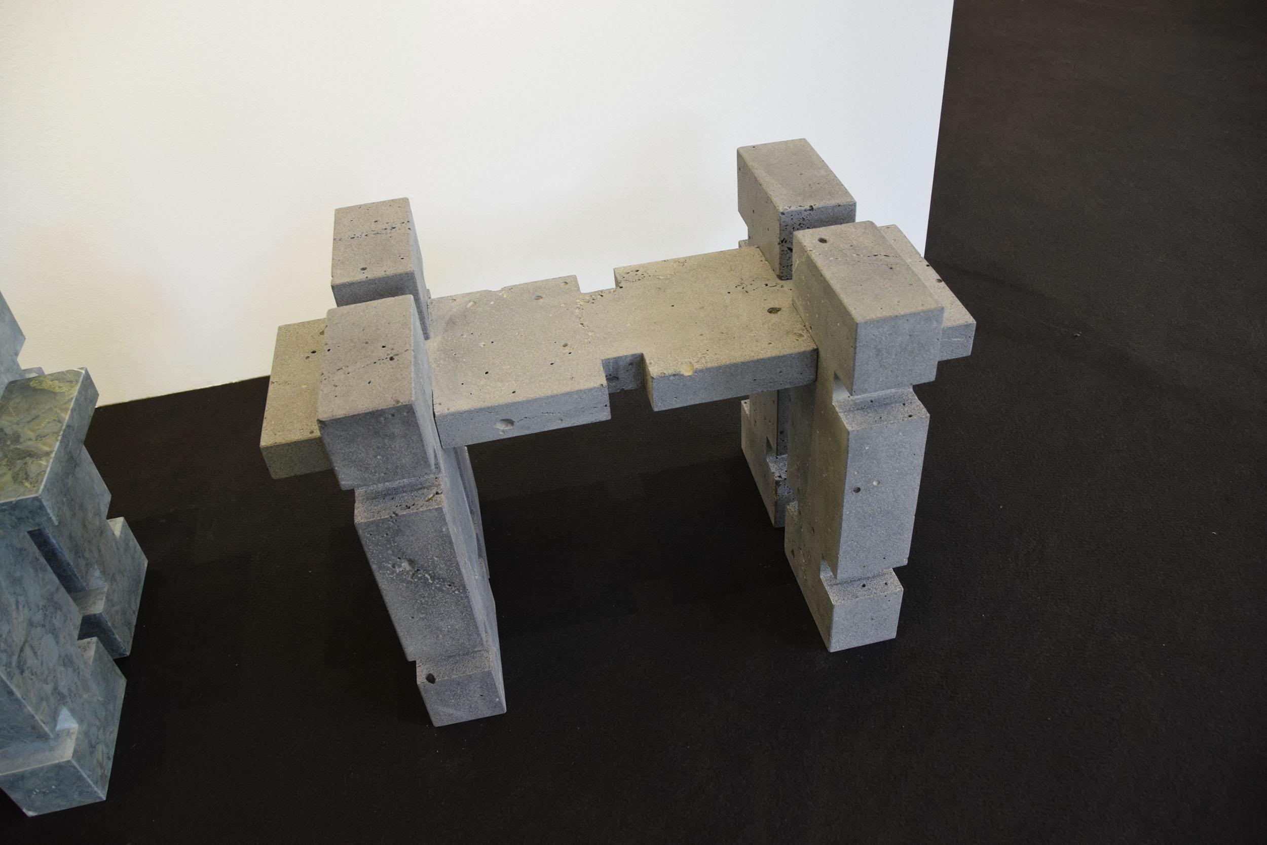 Stools made in Bazalti Stone. Tbilisi Art Fair
